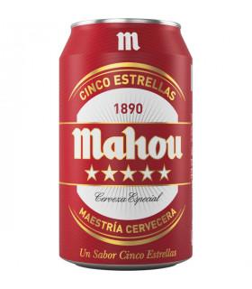 Bier Mahou 5 Sternen Cerveza Mahou 5 estrellas - 24 Dosen 33 cl