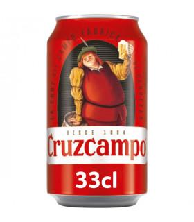 Cruzcampo Bier - 24 Dosen 33 cl