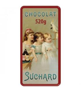 Rote Dose mit 2 Schokolade Turron mit Puffreis Suchard