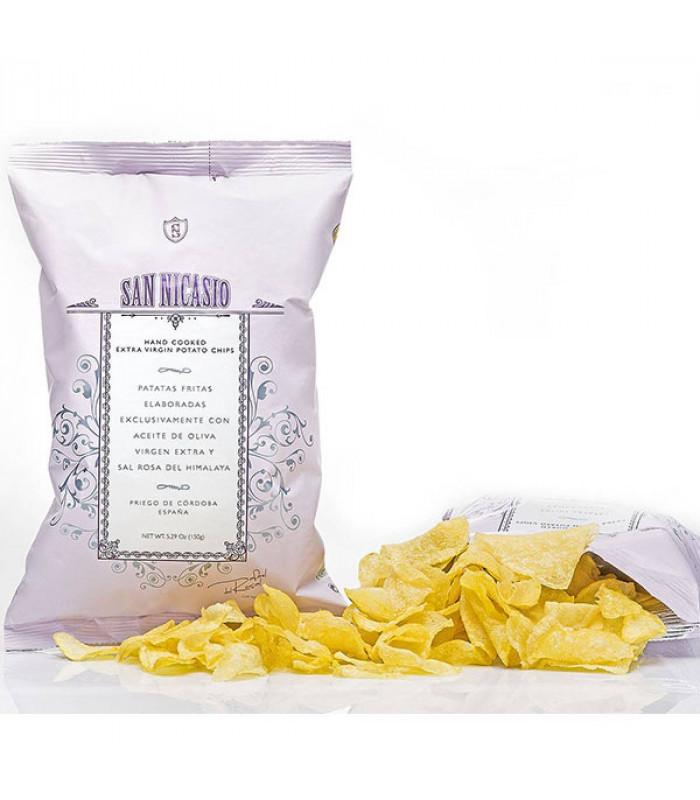 Kartoffelchips mit Himalayasalz San Nicasio