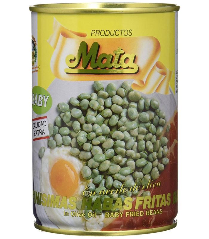 Habitas Baby en Aceite de Oliva Babybohnen in Olivenöl gebraten Mata