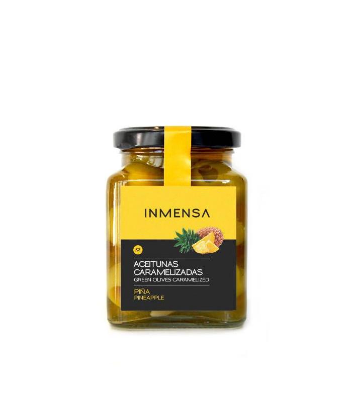 Carmelized Oliven gefüllt mit Ananas