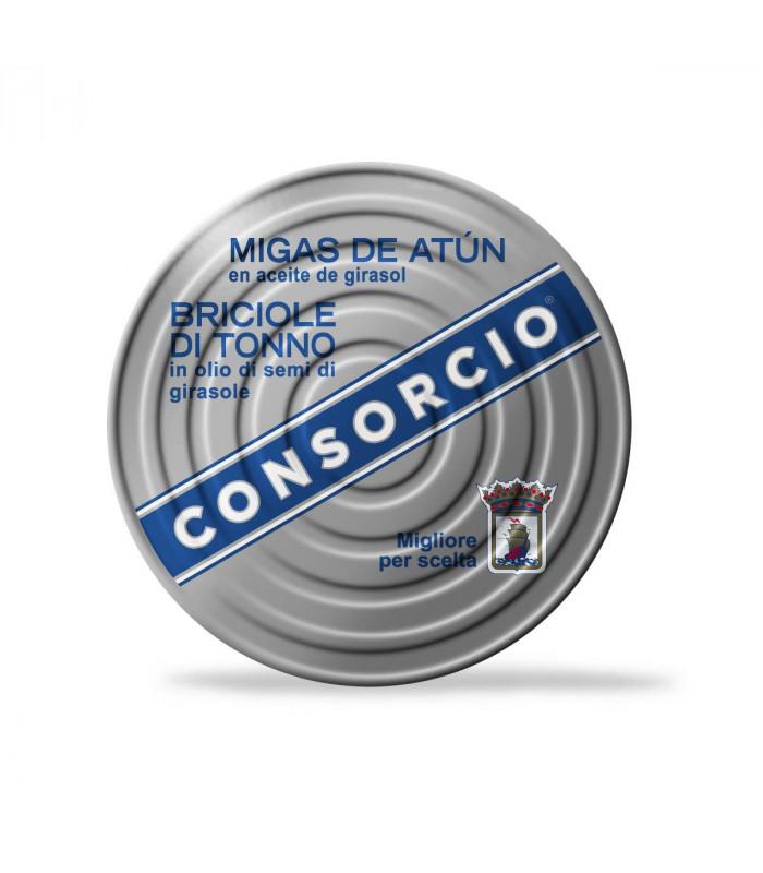Thunfischflocken in Sonnenblumenöl Migas de Atún en Aceite Consorcio 1 kg
