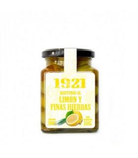 Hojiblanca Oliven mit Zitrone und Kräutern Aceitunas Hojiblanca con Limon y Finas Hierbas Inmensa