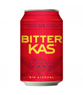 Bitter Kas 8 Dosen 33 cl - Alkoholfreier Aperitif