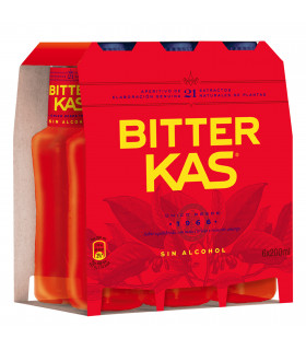 Bitter Kas 6 Flaschen 20 cl - Alkoholfreier Aperitif