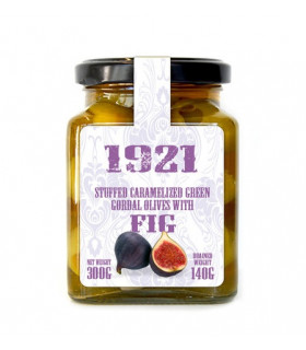 Karamellisierte Oliven gefüllt mit Feigen